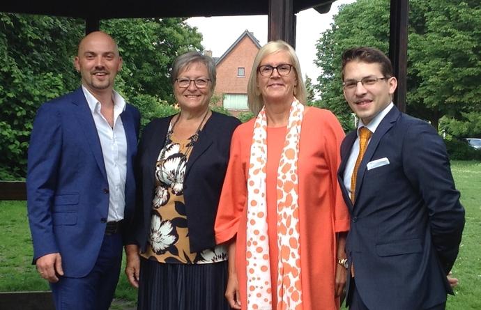 Vlnr: Michael Bryon, Anita Van den Bulck, Maryse Lenders, Michael de Permentier