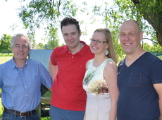 Van links naar rechts: Walter Kiebooms, Ken Casier, Wendy Somers en Kristof Van de Velde