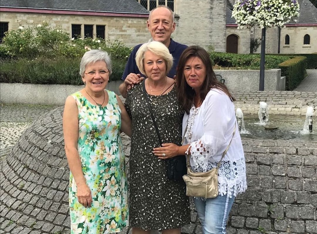 Vlnr: Miche De Ceuster, Linda Bresseleers, Jan Adams en Nana Horemans